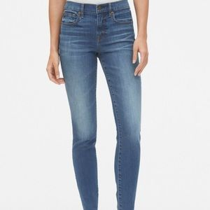 Mid rise stretch jeans